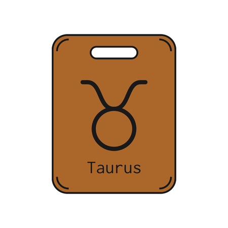 Taurus. Sign of the zodiac. Flat symbol horoscope and predictions. Vector object for design