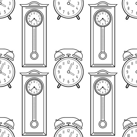 Reloj Vector Ilustración Para Colorear Dibujos Animados De Alarma ...