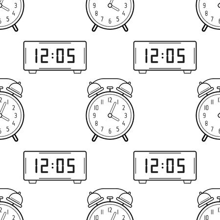 Reloj Vector Ilustración Para Colorear Dibujos Animados De Alarma