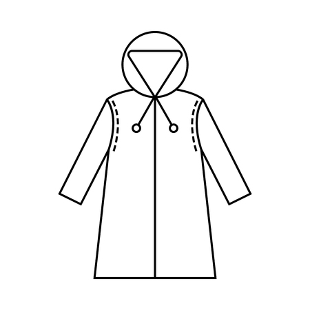 Rain Cover Raincoat Flat Icon Object Of Clothes Protective