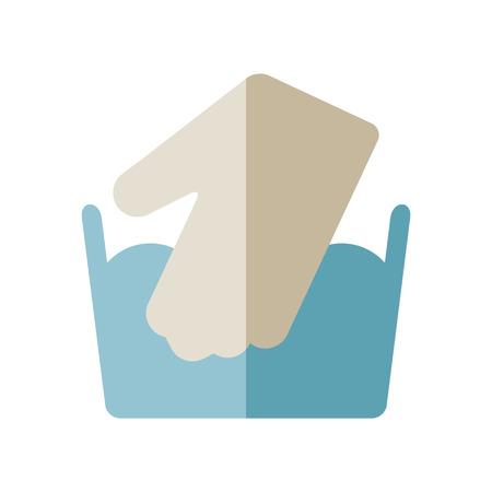 Icoon voor het verzorgen van kleding voor was. Vector illustratie
