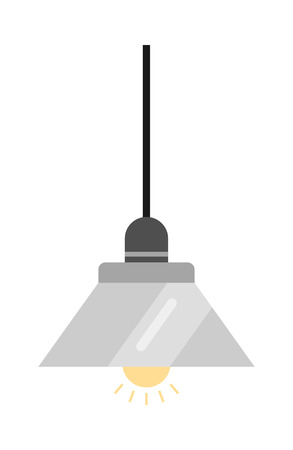 Lamp. Flat icon and light object. Interior. Vector illustration Illustration