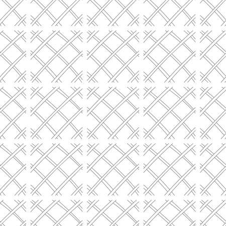 Abstract background, seamless pattern. Black and white illustration. Design for fabric, wallpaper or covering. Stock Photo