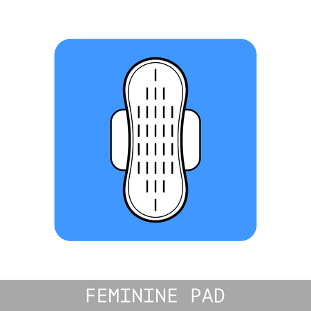 Pad. Feminine hygiene and monthly. Flat icon for website design.  イラスト・ベクター素材