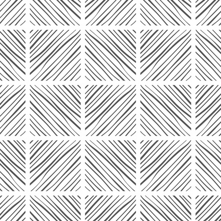 Abstract background and seamless pattern. Black and white illustration. Decor, design for fabric, textile, wallpaper or covering. Vector illustration Illustration