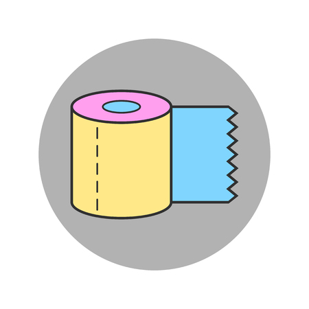 Toilet paper, roll. Flat body hygiene icon. Vector illustration