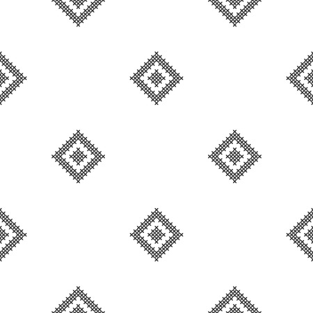 Cross stitch, seamless decorative pattern. Embroidery and knitting. Abstract geometric background. Ethnic ornaments. Vector Archivio Fotografico - 126096097