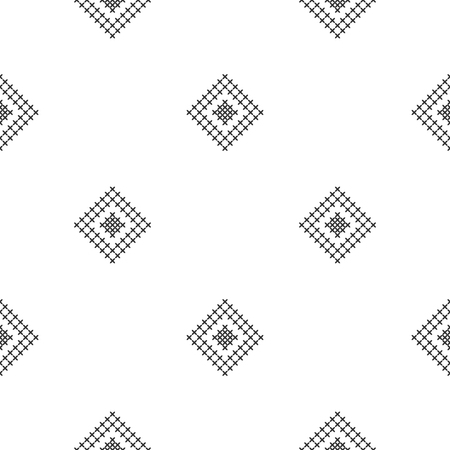 Cross stitch, seamless decorative pattern. Embroidery and knitting. Abstract geometric background. Ethnic ornaments. Vector Archivio Fotografico - 126096110