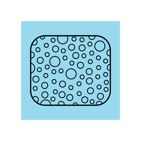 Sponge for washing. Subject of personal hygiene. Flat icon or object for design or web. Vector illustration