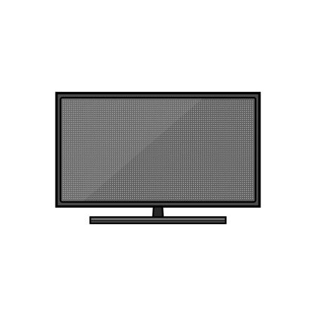 Led TV. Flat icon of modern household appliances isolated on white background. Vector illustration Standard-Bild - 120207937