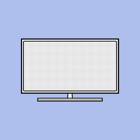 Led TV. Flat icon of modern household appliances isolated on background. Vector