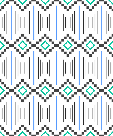Seamless pattern. Aztec abstract geometric background. Ethnic hipster style. llustration Иллюстрация