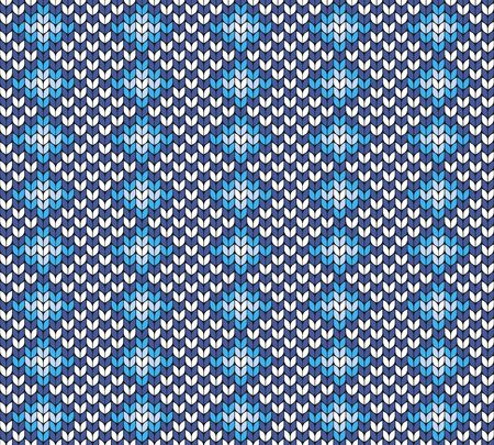 Colored seamless geometric pattern. Imitation of knitted fabric. Jacquard for sweaters, scarves, clothing.