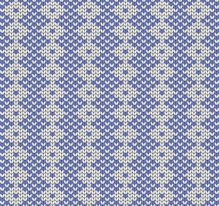 Colored seamless geometric pattern. Imitation of knitted fabric. Jacquard for sweaters, scarves, clothing. Archivio Fotografico - 137873836