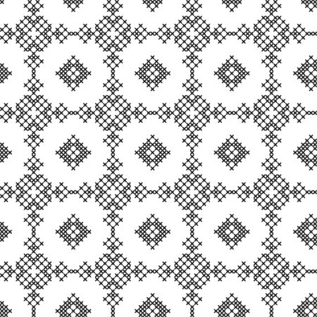 Imitation of cross stitch. Seamless geometric pattern. Background for cover, textile, wrapping paper, other design