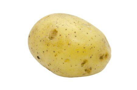 Potato tuber close up isolated on a white background. Fresh vegetables. Item for packaging, scene creator Standard-Bild