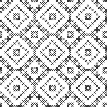 Imitation de point de croix. Motif géométrique sans soudure. Arrière-plan pour couverture, textile, papier d'emballage, autre conception Vecteurs