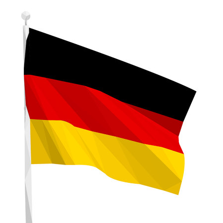Day of Unity of Germany, Flag of Germany, postcard, triangulation, vector illustration