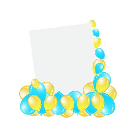 Greeting card, greeting card with beautifully decorated balls.