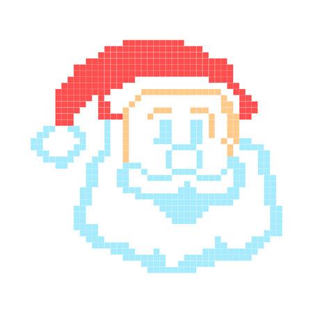 Santa Claus painted pixels.