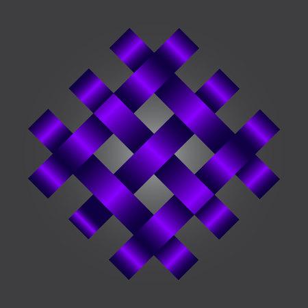 Cross Stripes-ontwerp. Binding van banden, banden verenigd in een driehoek, vierkant. Vector illustratie Stock Illustratie