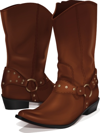 vector cowboy boots  Illustration