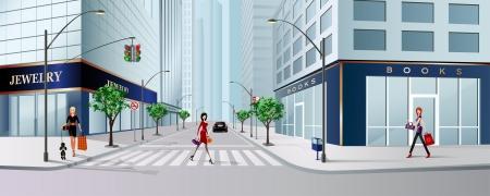 escena de la ciudad grande