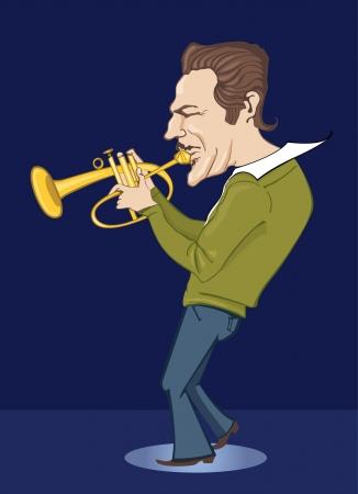 jazzman in blue  Ilustração