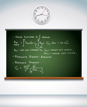 a chalkboard in classroom