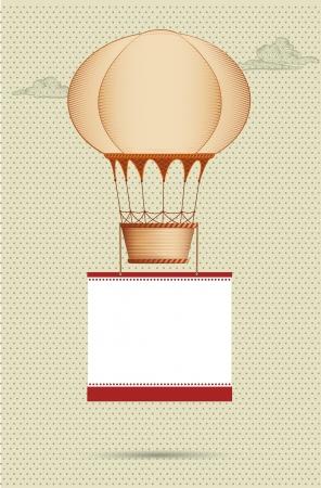 balon: frame with hot air balloon