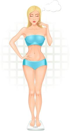 Meisje in volle groei met een gewicht van zichzelf