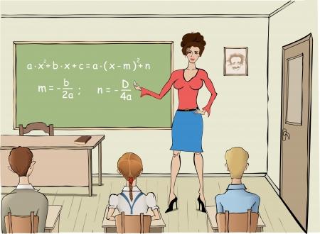 Maths classes Stock Vector - 14889495