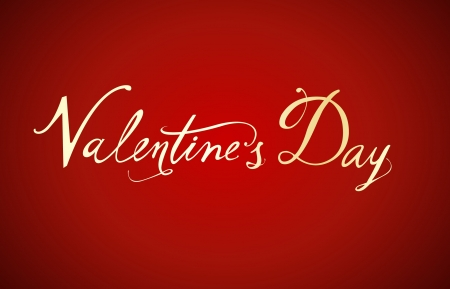 Valentine s Day type text Vector