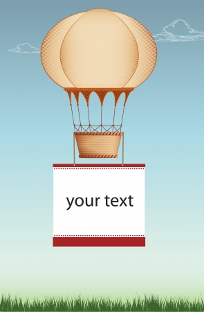 balon: frame with hot air balloon Illustration