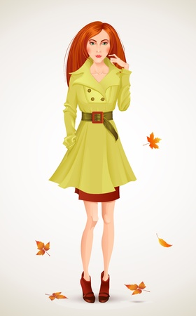 autumn woman: Autumn fashion woman