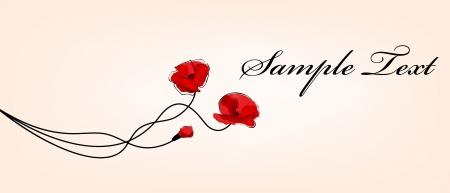 torrid: poppy flowers card Illustration
