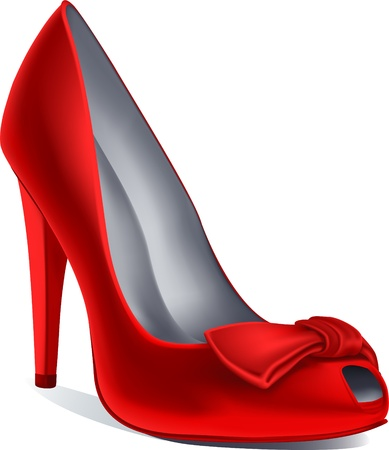 red shoe Ilustrace