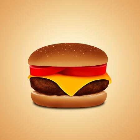 burger on white