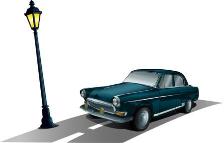 ロシアの自動車  イラスト・ベクター素材