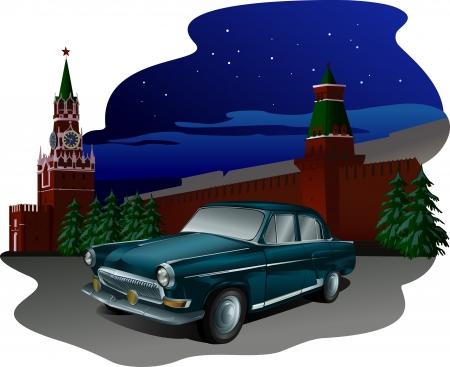러시아어 자동차 일러스트