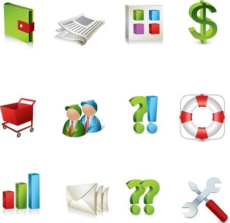 3d icons Stock Illustratie