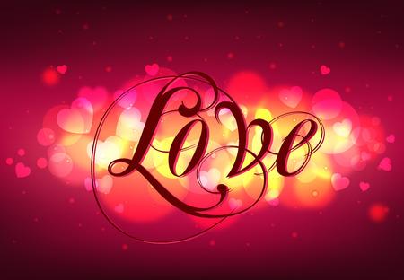 Greeting Card LOVE Ilustração