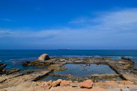 caesarea: Caesarea, sea view Stock Photo