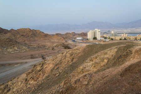 eilat: Eilat view from the Israels desert Stock Photo