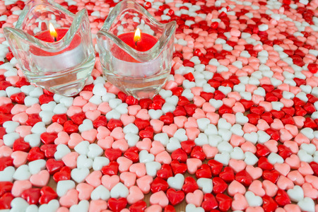 no fires: Candles and hearts