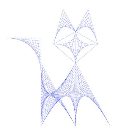 Formant un chat paraboles Banque d'images - 43814621
