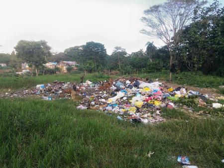 Informal dump in a suburb of Santo Domingo in Dominican Republic 写真素材