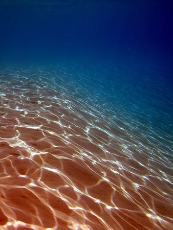 Ripples of sand under the water.Taken in Sharm El Sheikh.