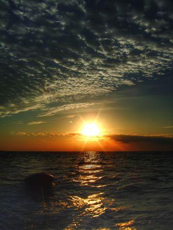 Beautiful Sunrise over the Red Sea