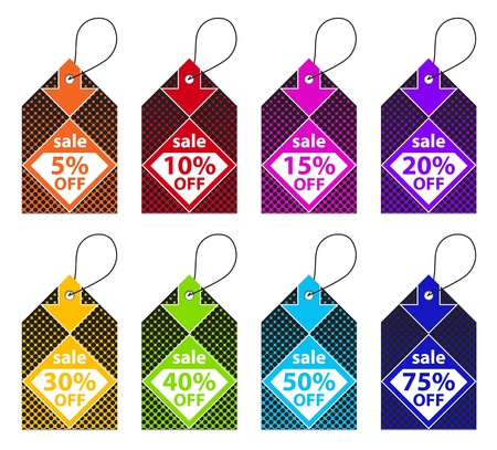 Colorful Discount Labels Stock Vector - 15196943